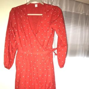 Old Navy long sleeve wrap dress.